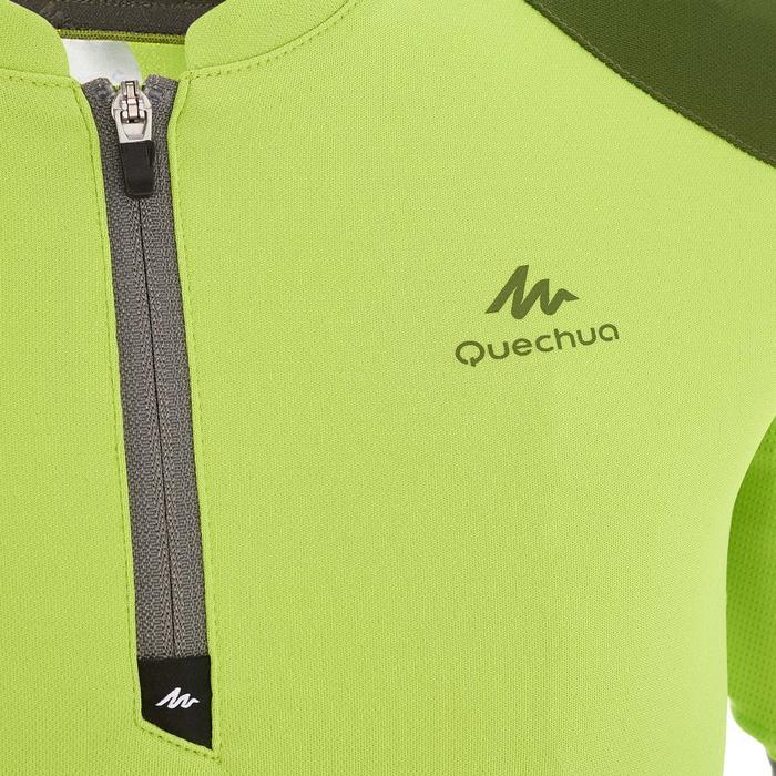 Camiseta Manga Corta de Montaña y Trekking Forclaz MH550 Niños Verde