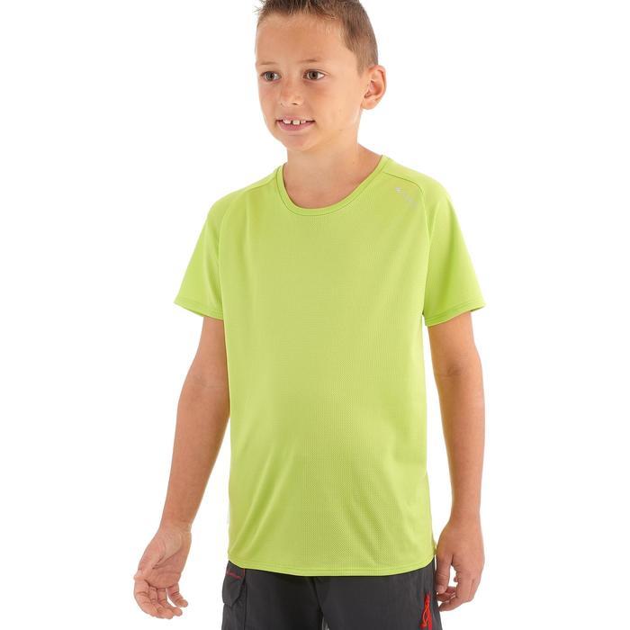 Wandelshirt voor kinderen Hike 100 groen