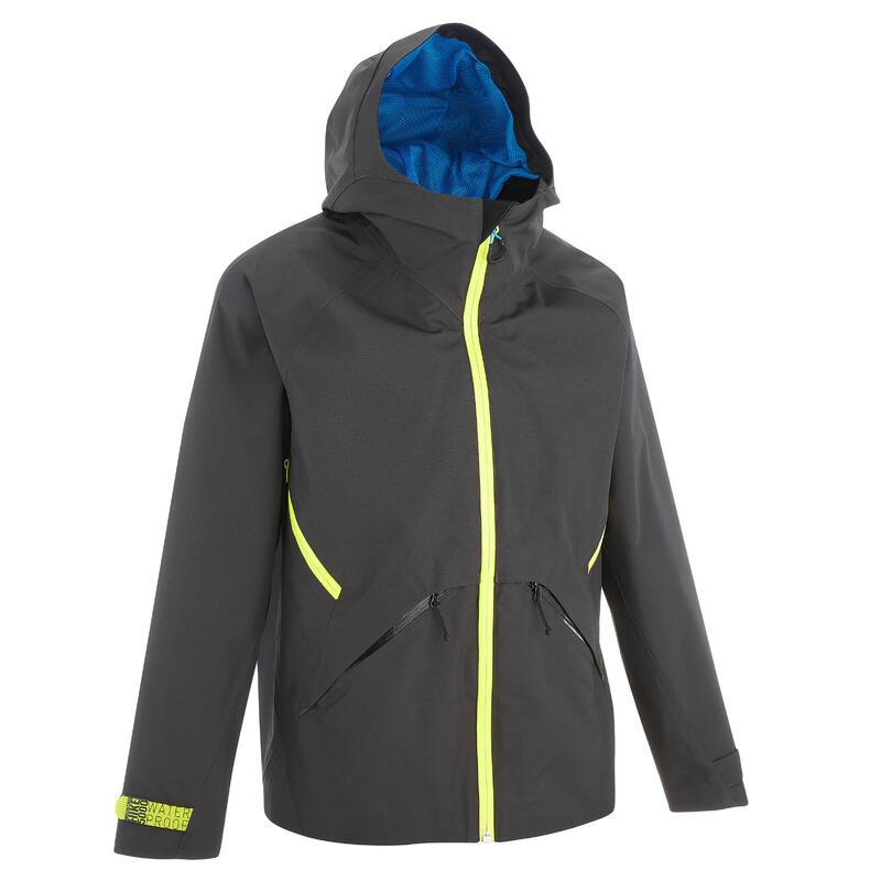 Veste imperméable de randonnée - MH550 grise - enfant 7-15 ans
