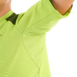 Camiseta Manga Corta de Montaña niños 7-15 años Forclaz MH550 Verde