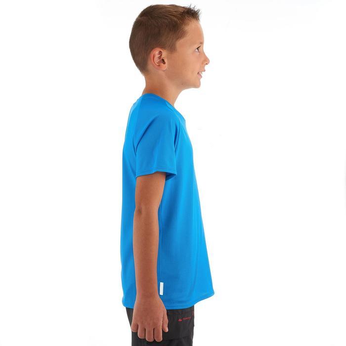 Camiseta Manga Corta de Montaña y Trekking Quechua Hike 100 Niños Azul