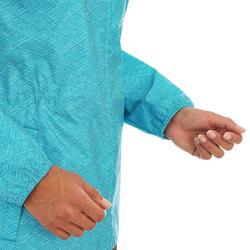 Chaqueta Impermeable Montaña y Senderismo Quechua NH100 Raincut Mujer Azul