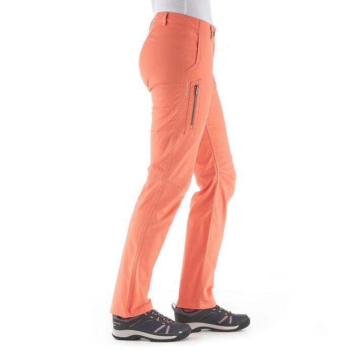 Pantalón de senderismo por la naturaleza mujer NH500 naranja