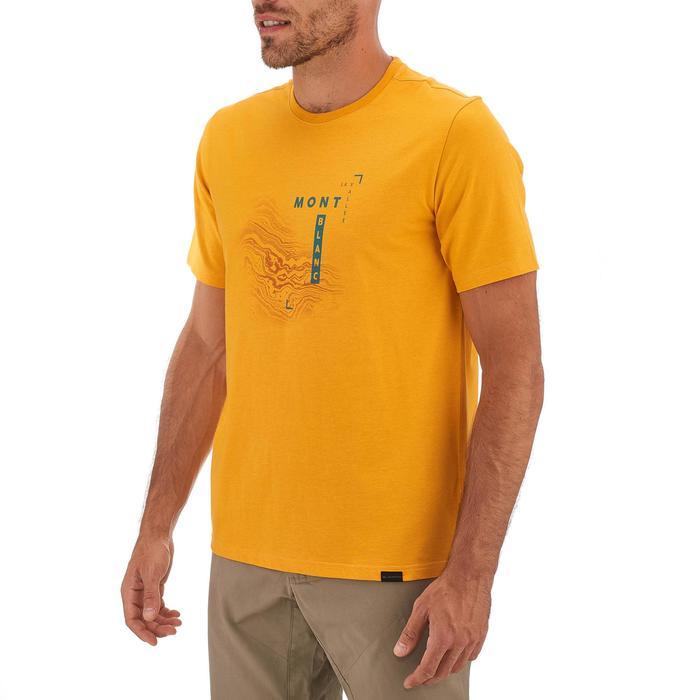 T-shirt wandelen NH500 geel heren