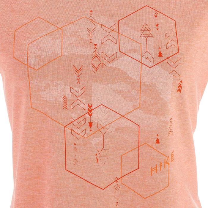 Wandershirt T-Shirt Naturwandern NH500 Damen koralle