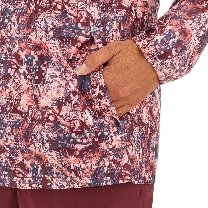 Women's Raincoat NH100 (Full Zip) - Burgundy