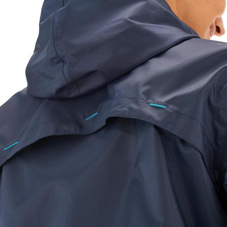 Chamarra Impermeable senderismo naturaleza mujer Raincut Cremallera azul marino