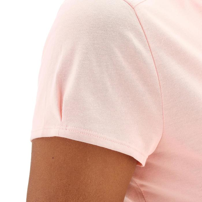 Dames T-shirt wandelen in de natuur NH500 roze