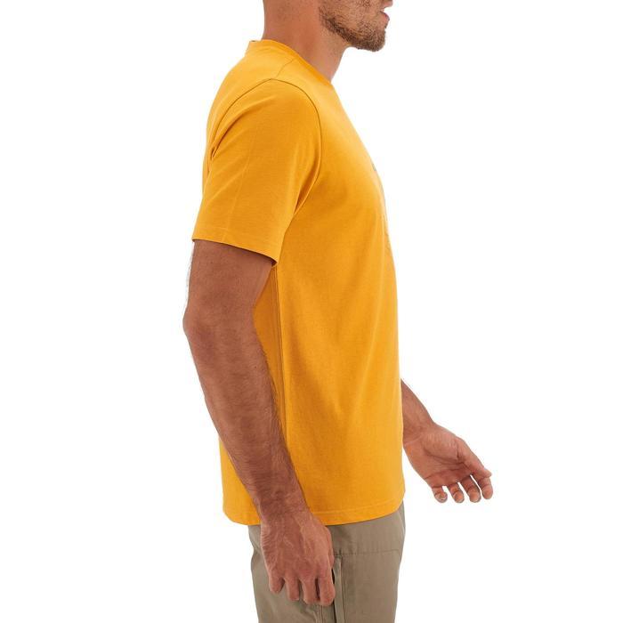 Tee shirt randonnée nature homme NH500 jaune
