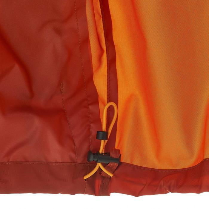 Waterdicht regenjack natuurwandelingen heren Raincut rits oranje en lichtblauw