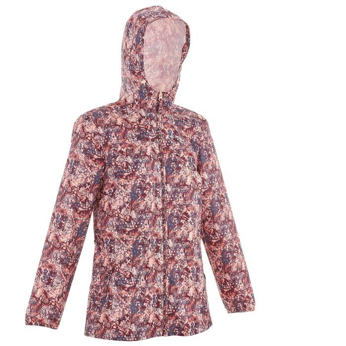 Regenjas voor wandelen dames Raincut rits bordeaux