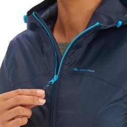 Regenjas voor wandelen dames NH100 Raincut volledige rits