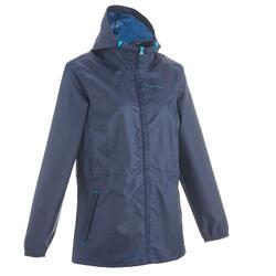 Coupe pluie Imperméable randonnée nature NH100 Raincut zip marine femme