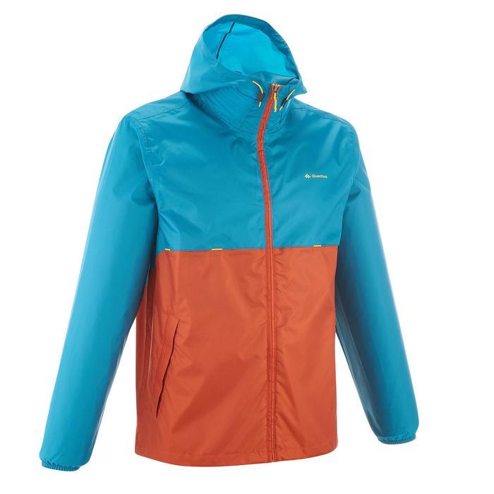 Coupe pluie Imperméable randonnée nature homme Raincut zip marine - 1257900