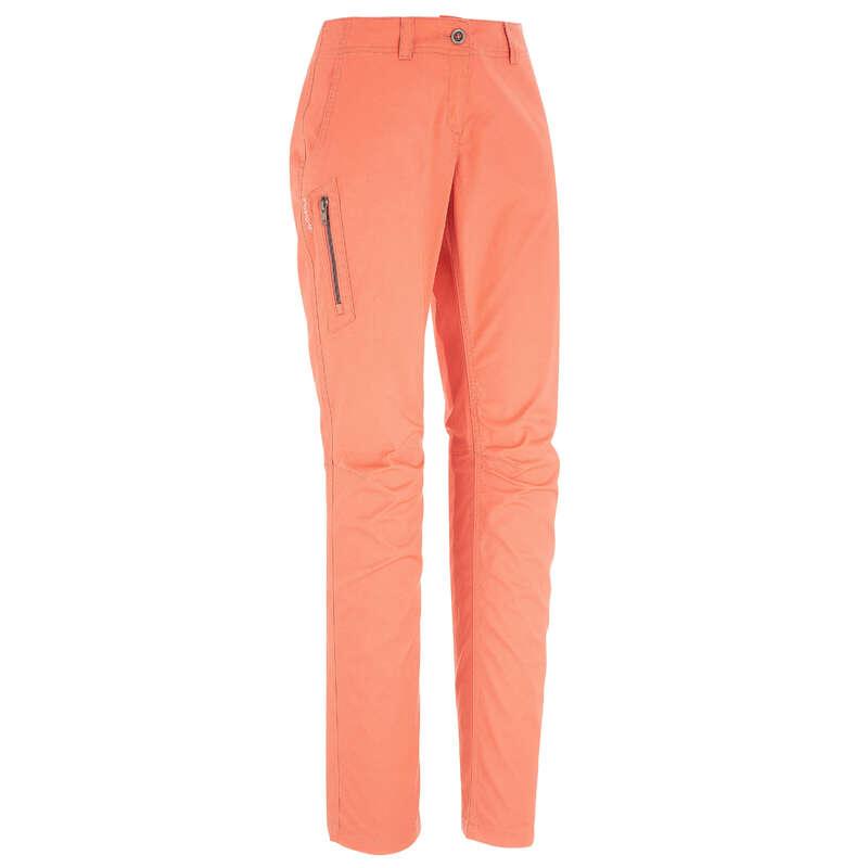 WOMEN NATURE HIKING PANTS Hiking - NH500 Women trousers - Orange QUECHUA - Hiking Clothes