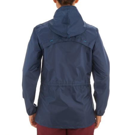 Women's country walking raincoat - NH100 Raincut Full Zip