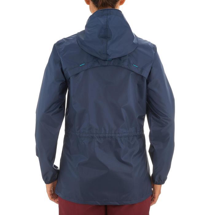 Impermeable senderismo naturaleza mujer Raincut cremallera azul marino