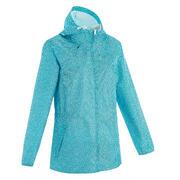 Women's Raincoat Full Zip NH100 - Blue