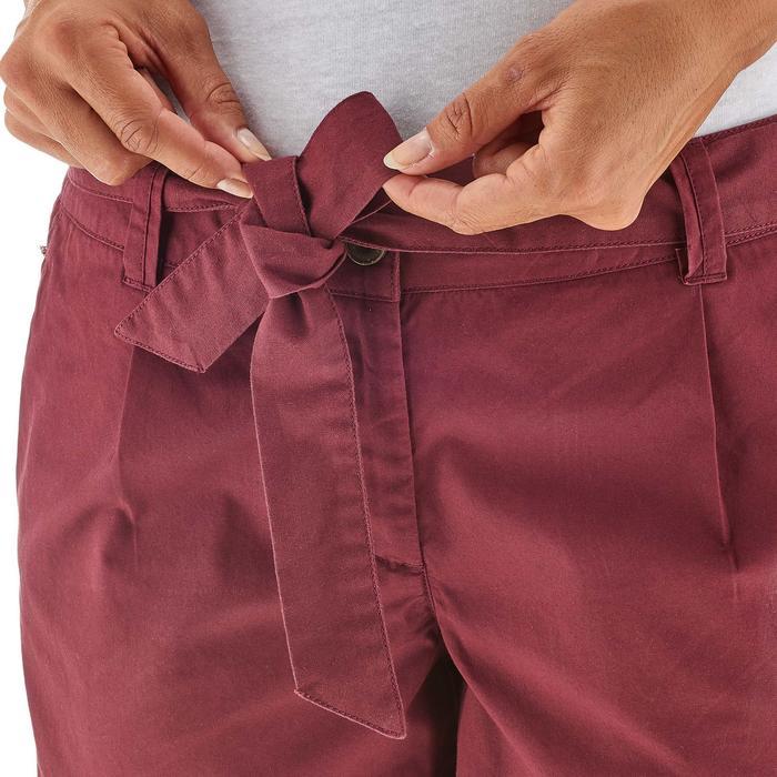 Pantalón Corto Short de Montaña y Senderismo Quechua NH500 Mujer Rojo