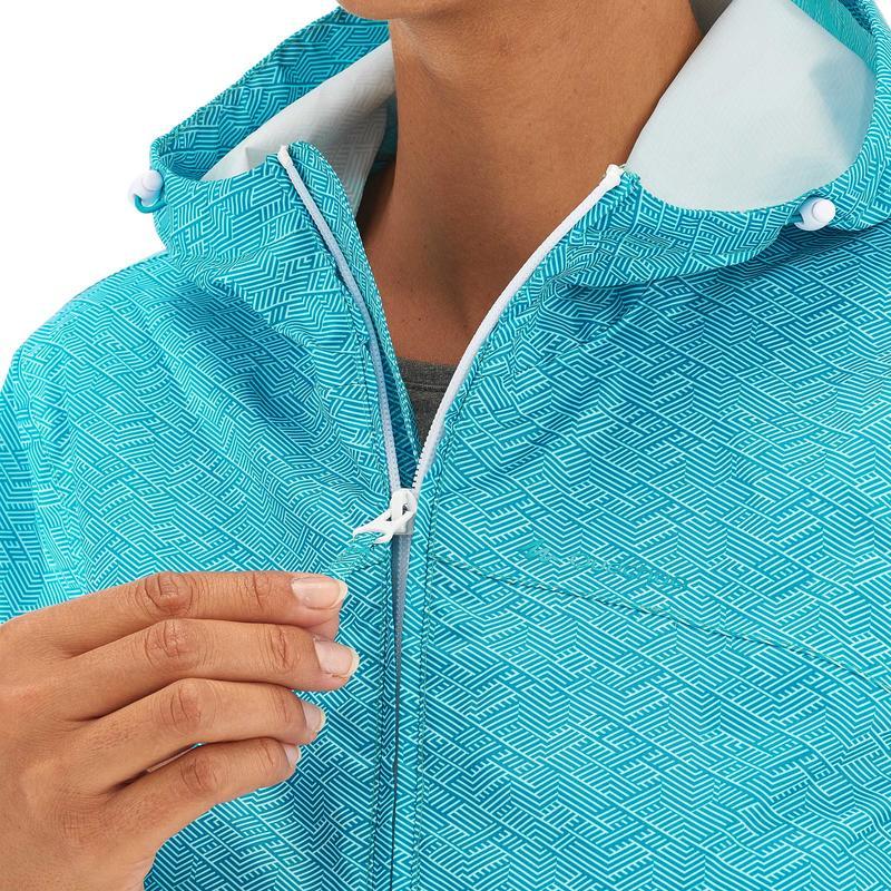 Women's Raincoat NH100 (Full Zip) - Light Blue
