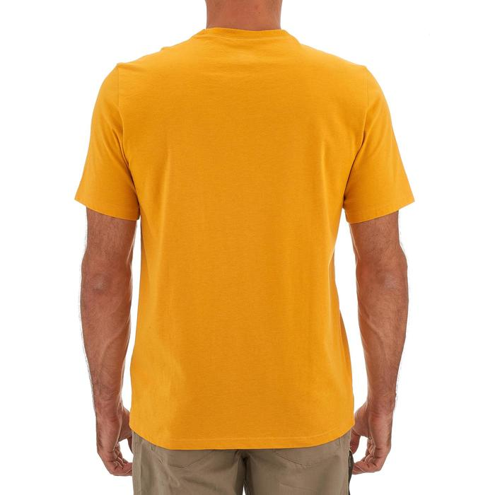 T-shirt wandelen in de natuur NH500 geel heren