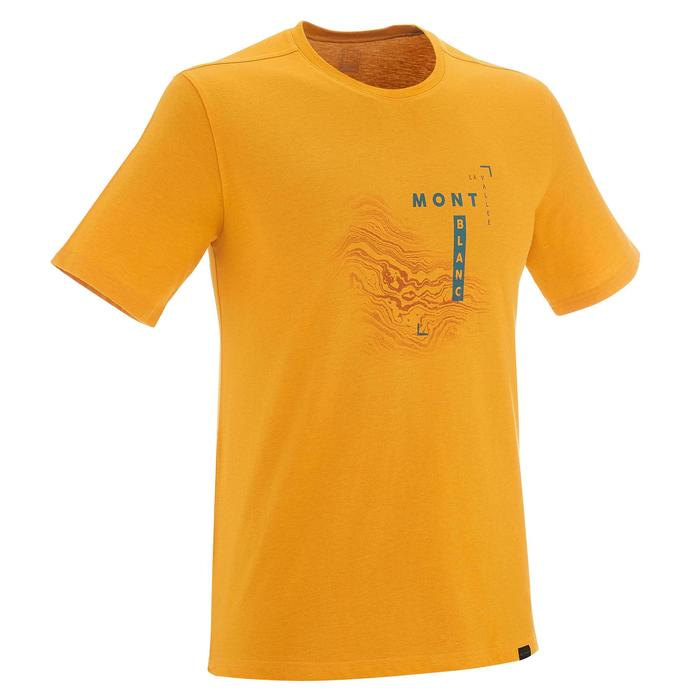 Tee shirt randonnée nature homme NH500 chiné - 1257942
