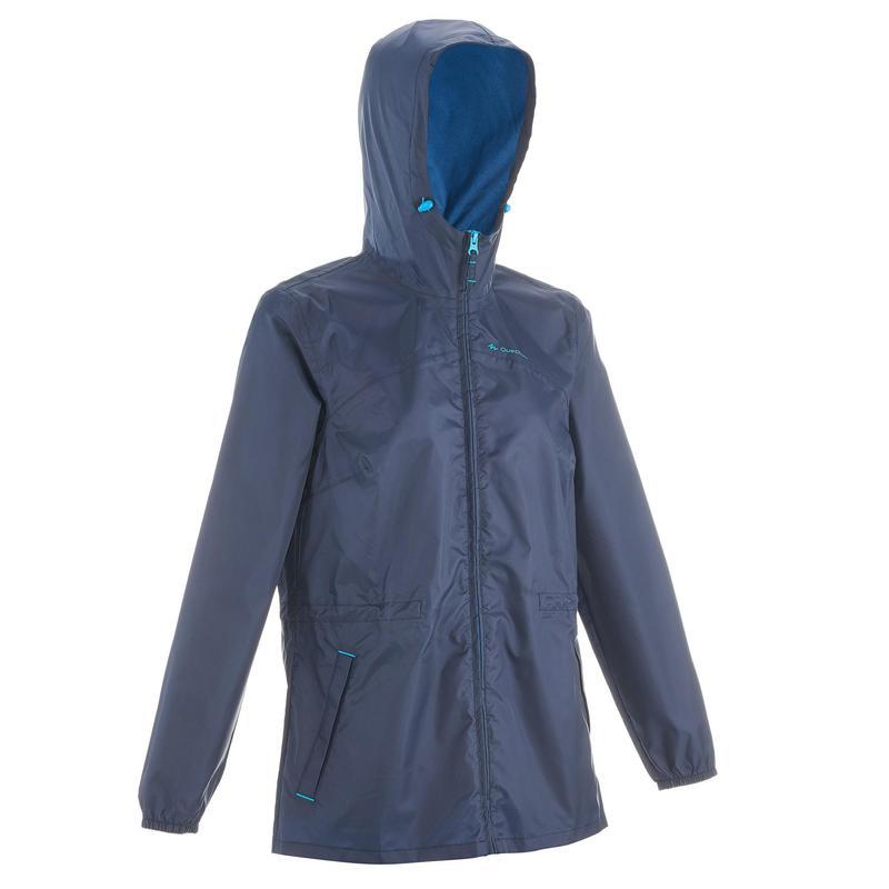 Veste imperméable de randonnée nature - Raincut Zip - Femme