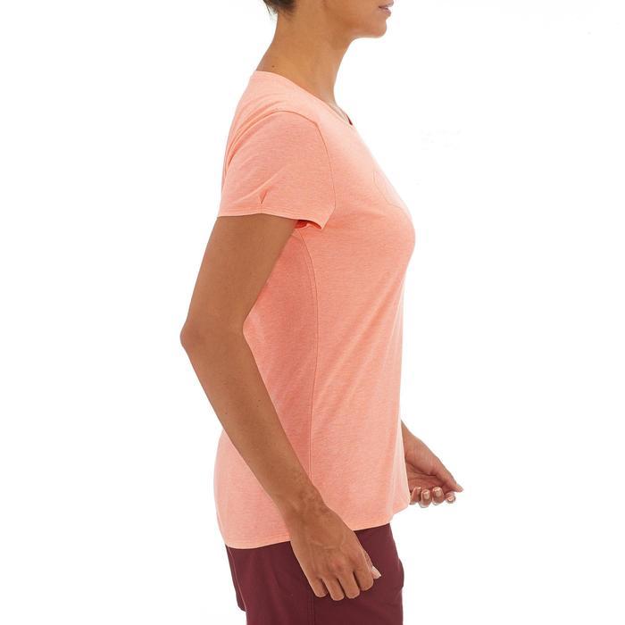 Dames T-shirt wandelen in de natuur NH500 koraal
