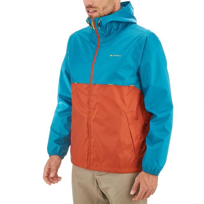 6994dcb728c Coupe pluie Imperméable randonnée nature homme NH100 Raincut zip orange  homme