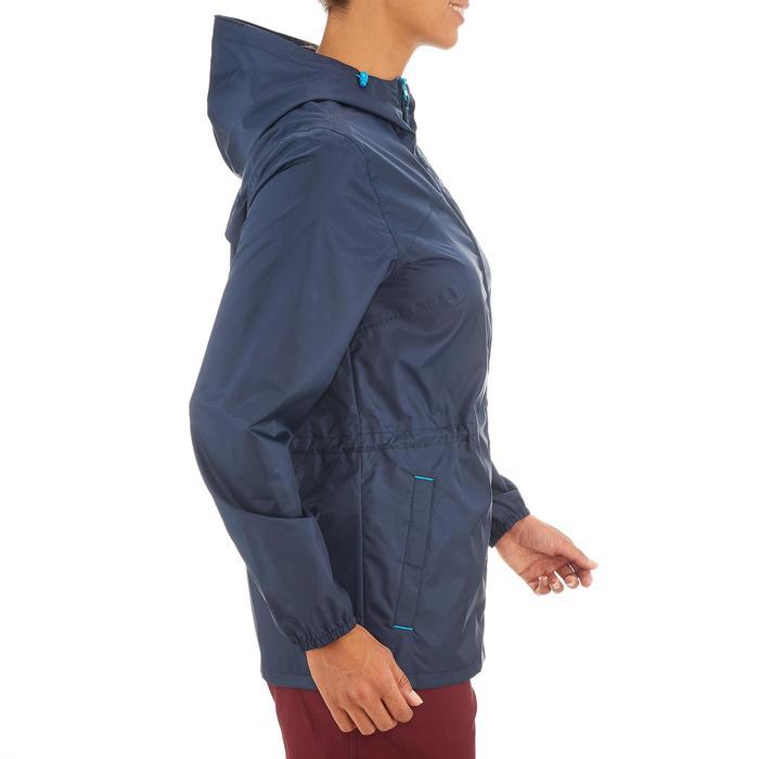 Regenjas voor wandelen dames Raincut rits marineblauw