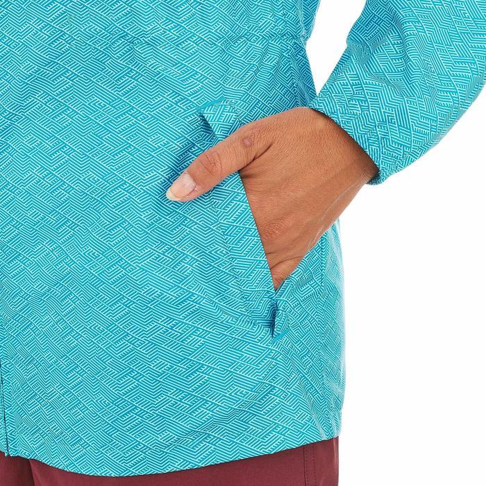 Regenjas voor wandelen dames Raincut rits lichtblauw