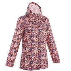 Dames regenjas voor wandelen in de natuur Raincut rits bordeaux