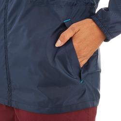 Chaqueta Impermeable Montaña y Senderismo Quechua NH100 Raincut Mujer Azul Marin