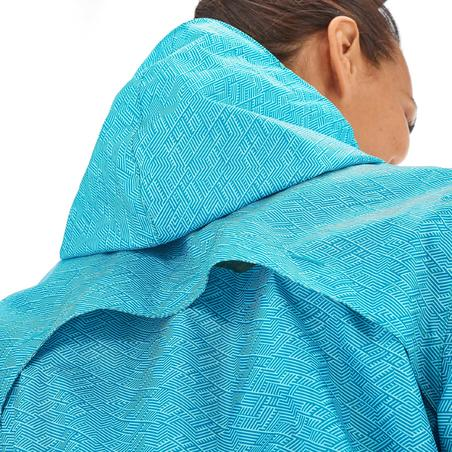 Impermeable senderismo en naturaleza mujer Raincut cierre azul c