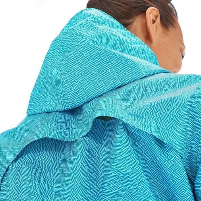 Damesregenjas natuurwandelingen Raincut rits lichtblauw