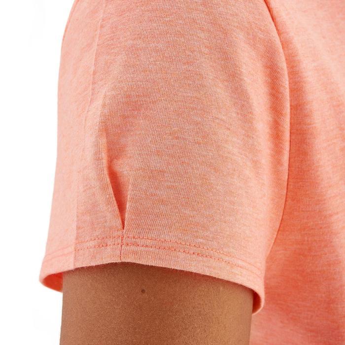 Camiseta de senderismo en la naturaleza mujer NH500 coral