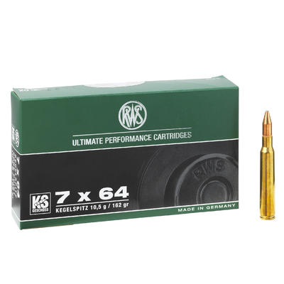 Munitions de chasse RWS calibre 7x64 Ks 10.5g