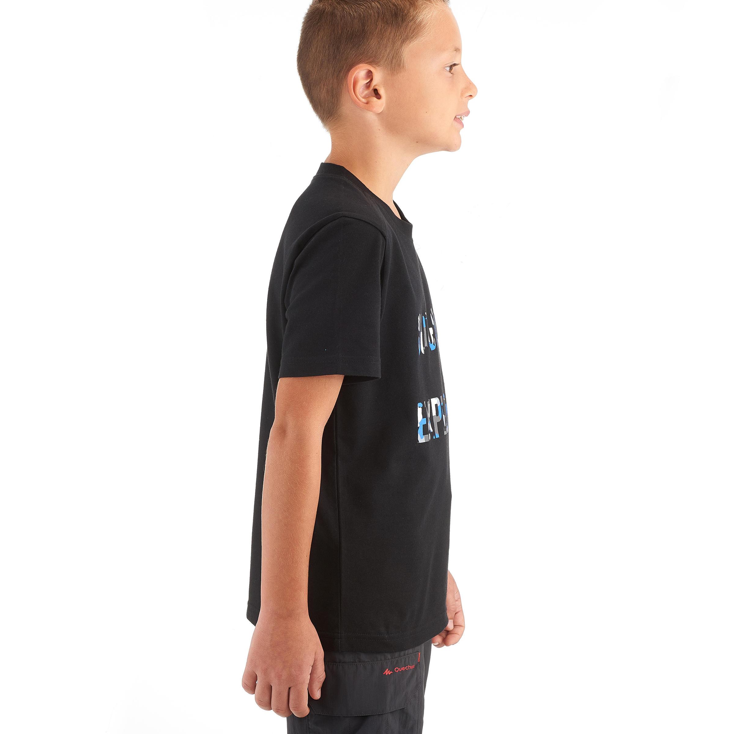 TEE-SHIRT de randonnée enfant Hike 500 noir