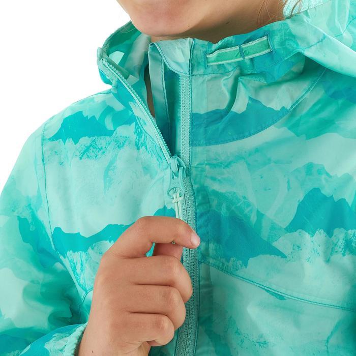 Veste imperméable de randonnée enfant Hike 150 gris imprimé tribal - 1258179