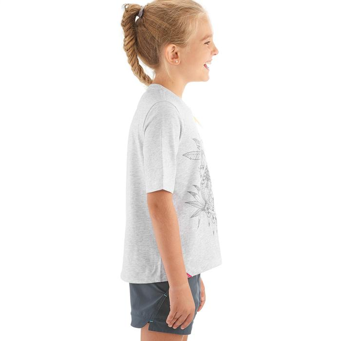 CAMISETA de senderismo niña Hike 500 Gris perla