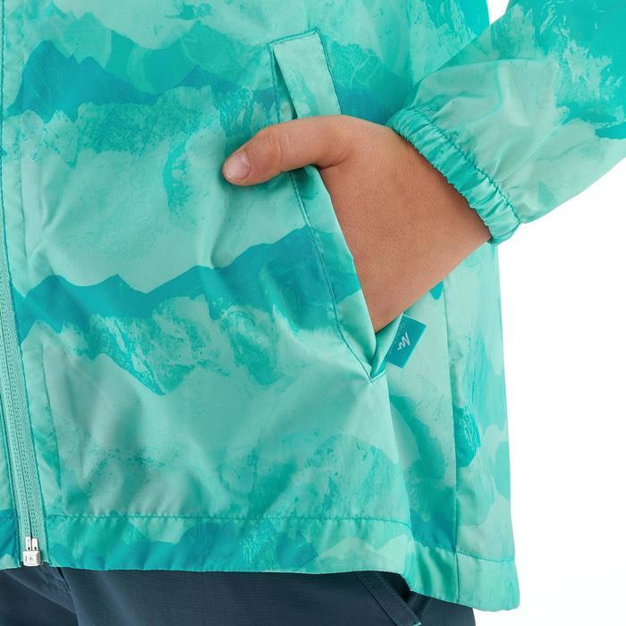 Veste imperméable de randonnée enfant Hike 150 gris imprimé tribal - 1258200