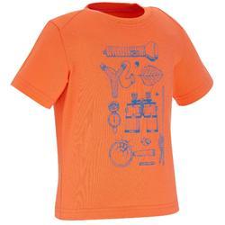 Wandershirt Hike 500 Kleinkinder Jungen orange