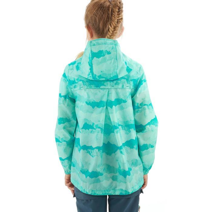 Veste imperméable de randonnée enfant Hike 150 gris imprimé tribal - 1258211