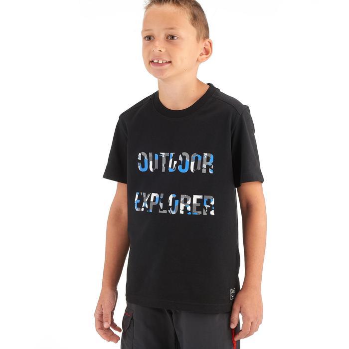 Wandelshirt voor jongens Hike 500 zwart