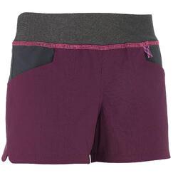 Pantalón corto Short de montaña niños 7-15 años MH500 Ciruela