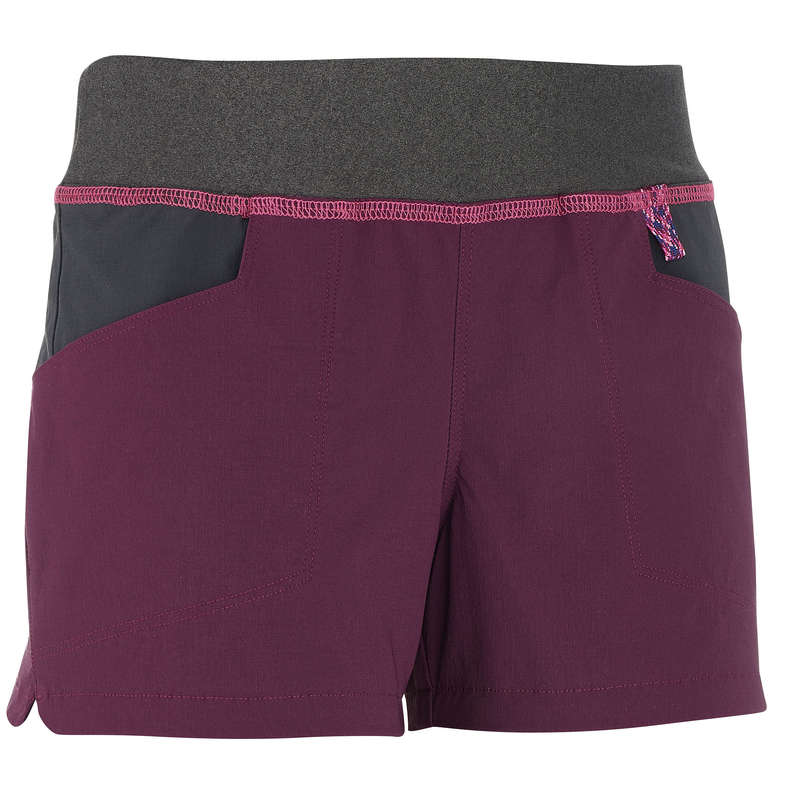 PANTS SHORTS, T SHIRT GIRL 7-15 Y Hiking - MH500 Hiking Shorts - Prune QUECHUA - Hiking Clothes