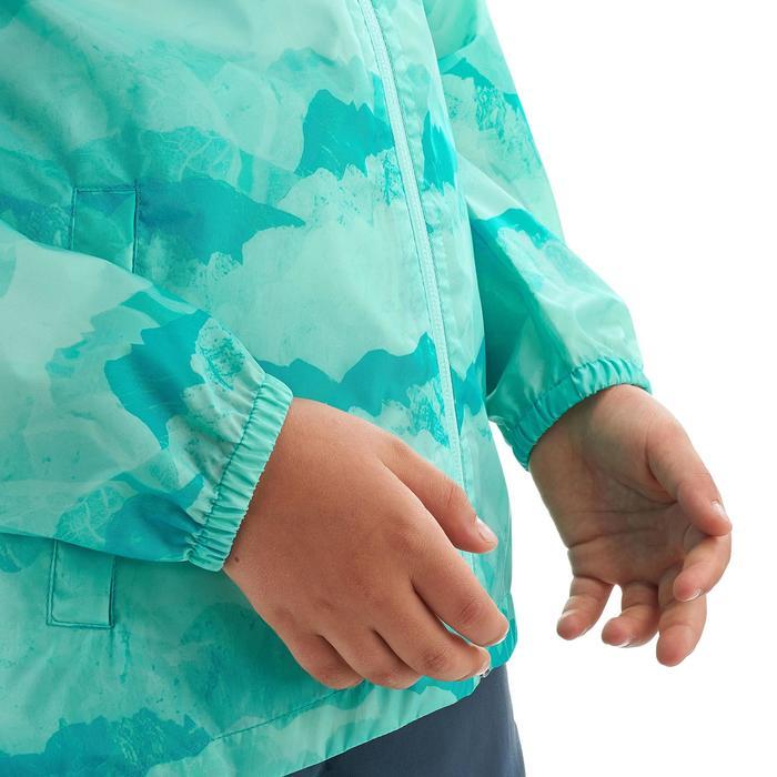 Veste imperméable de randonnée enfant Hike 150 gris imprimé tribal - 1258221