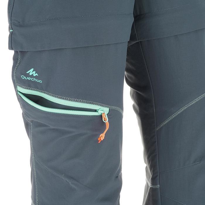 Pantalon de randonnée modulable enfant MH550 gris fonce