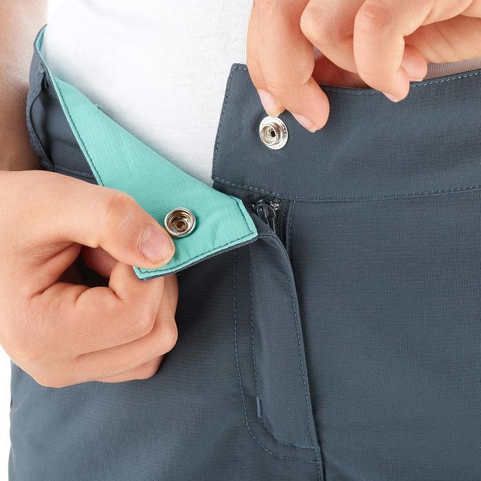 兒童款可調式健行長褲MH500-深灰色