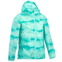 Regenjack Hike 150 voor kinderen, voor wandelen blauw